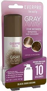 Everpro Gray Away Women Temporary Root Concealer, Black/Dark Brown 1.5 oz