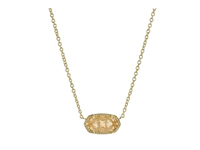 Kendra Scott Elisa Birthstone Necklace (November/Gold/Orange Citrine Quartz) Necklace