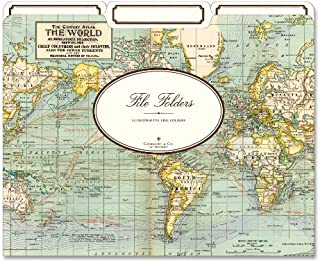 Cavallini & Co. World Map File Folders 12pk