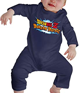 Baby Round Neck Long-Sleeve Pure Color Romper Dragon_Ball Z Dokkan Battle Crawling Clothes