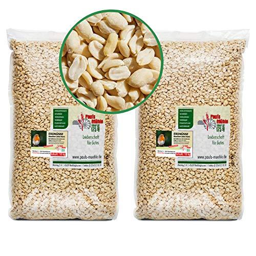 Paul´s Mühle Erdnüsse Weiss, Erdnusskerne blanchiert ohne Haut, 20 kg