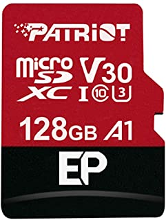 Patriot EP Series 128GB A1 / V30 Micro SD Card for Android Phones and Tablets, 4K Video Recording - PEF128GEP31MCX