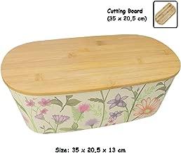 panera o Recipiente de Comida Seca para Almacenamiento de Cocina e!Orion Panera de Madera Natural de bamb/ú con Tapa Enrollable 48 x 25 x 15 cm