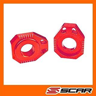 SCAR Achsenblöcke Achsblöcke kompatibel mit KTM SX SXF 85 125 250 450 02 14   Rot