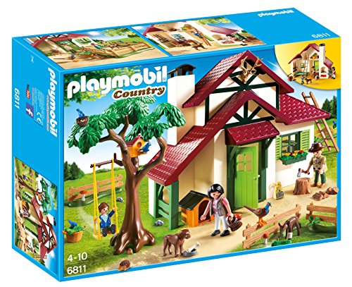 PLAYMOBIL- Forest Ranger\'s House Playset, Multicolor (6811)