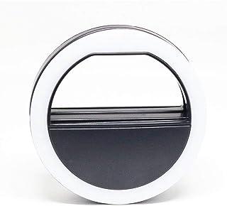Mini Iluminador de Led Ring Light 8cm Greika Mpled-8 para Celular Smartphone - Preto