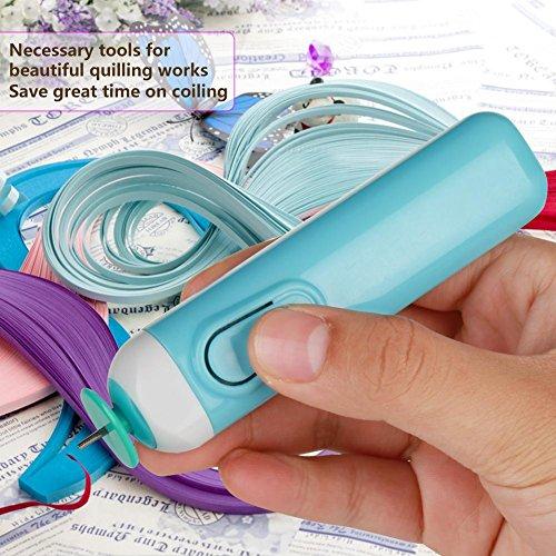 Oumefar Paper Quilling Tools Quilling Pen Paper Quilling Pen Art Package(blue)