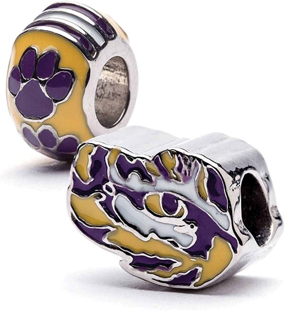 Louisiana State University Charm LSU Tigers Tiger - Bead a Eye Opening large Denver Mall release sale