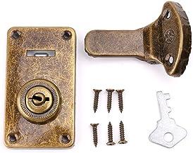 ATATMOUNT Bronzen Tone Lederen Koffer Gesp Doos Vintage Metalen Lock Antieke Toggle Hasp Latch