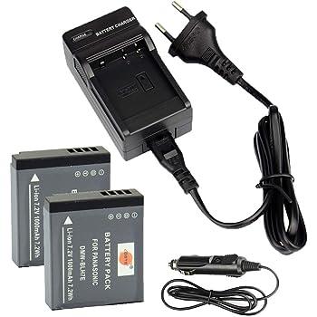 2x Batterie Dmw Blh7 Pour Panasonic Lumix Dmc Gf7 Dmc Gm1 Gm5 Amazon Fr Photo Camescopes