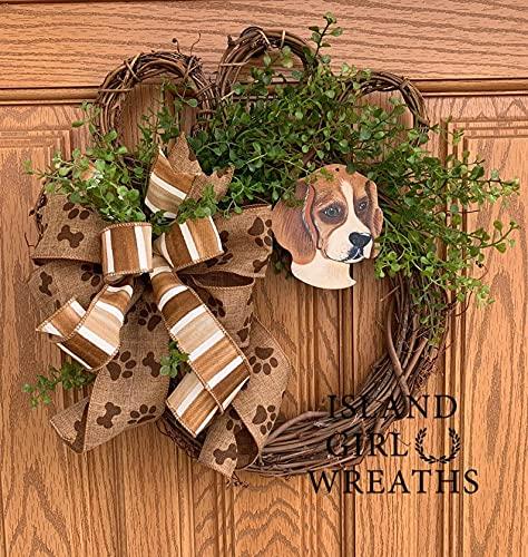 Beagle Decor lowest price Wreath List price Paw Dog Grapevi