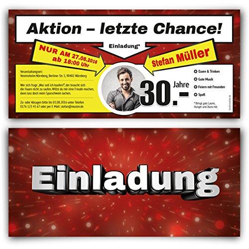 Einladungskarten zum Geburtstag (30 Stück) als Sonderangebot Flyer Prospekt Werbung