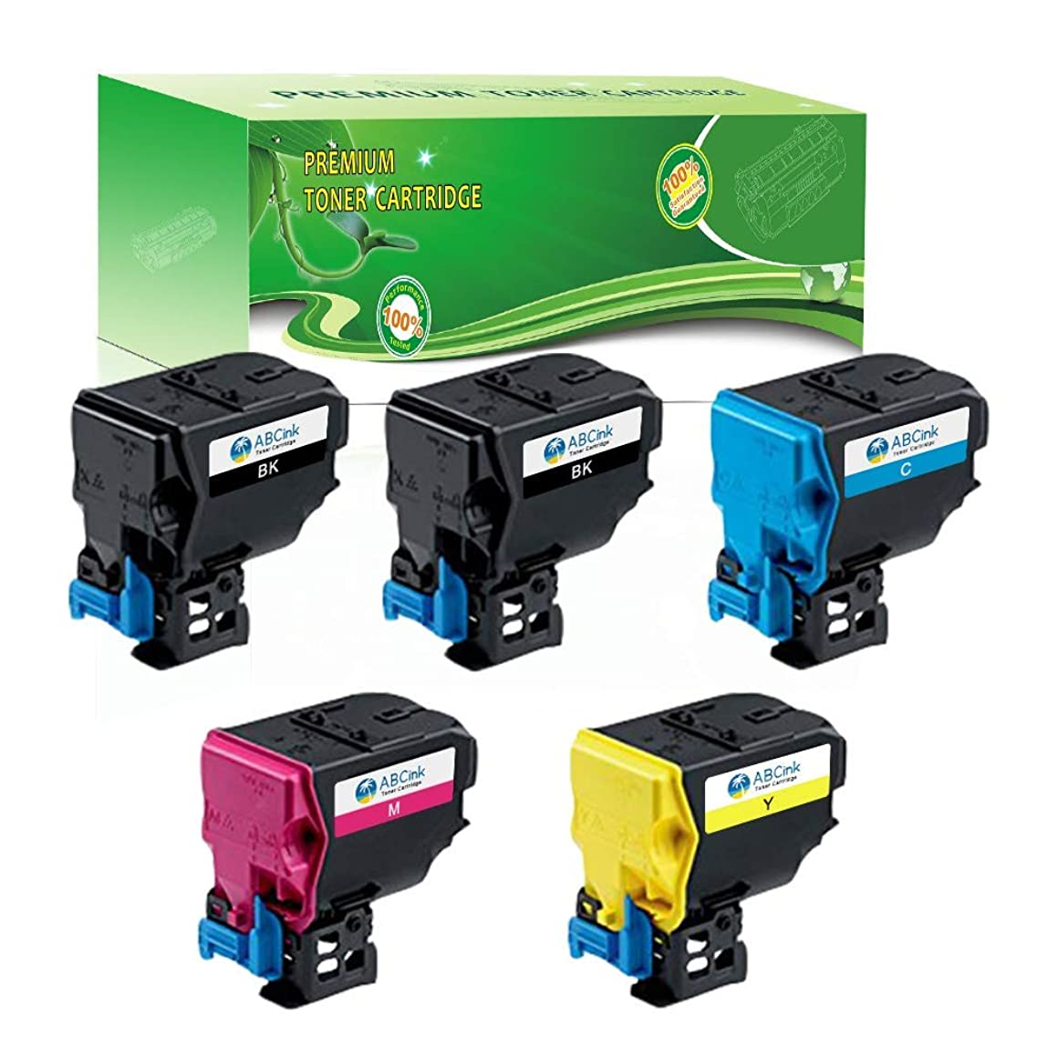 ABCink C3850 Toner Compatible for Konica Minolta Bizhub C3850 Color Laser Printer Copier Toner Cartridge,5 Pack(2 Black,1 Cyan,1 Yellow,1 Magenta)