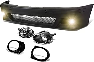 DNA Motoring FBP-FL-002 Polypropylene ABS Front Bumper+Fog Light (M5 Style) [For 96-03 BMW E39], Black