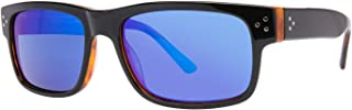 Randy Jackson RJRU S925P Mens Sunglasses - Black Tortoise/Blue Mirror