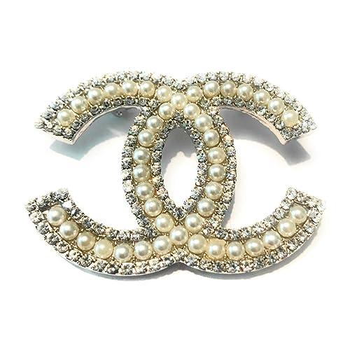 e7116e996 New Fashion womens C.C. diamond rhinestone Brooch Brooches pin Gift Silver