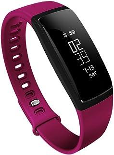GMLCN La Presión Arterial Mesa Pulsómetro Bluetooth Pulsera De Los Deportes del Reloj Inteligente Desgastado Salud De Los Ancianos,Pink
