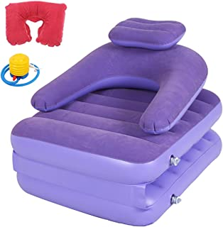 Inflatable Maternity Pillow Raft Folding Mattress, Sofa Sack Queen Pull Out Sofa Airbed with Quick Fill Electric Air Pump with Plush Accessories for Dorm Room