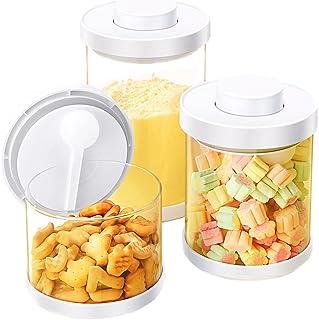 TBBA Distributeur De Lait en Poudre, Boite de Rangement Cuisine Lot de 3, Bocaux Hermetiques Alimentaires en Plastique Sce...