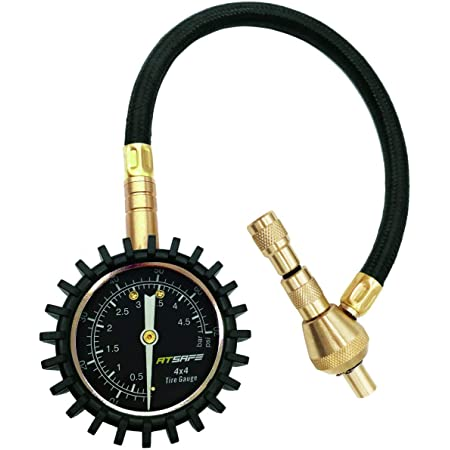 2 In 1 Professional Air Pressure Gauge 75psi With Special Lining For 4x4 Large Off Road Tyres On Jeep Truck Atv Auto
