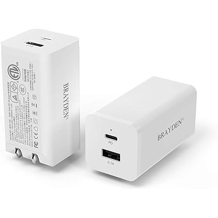 BRAYDEN USB-C PD 急速充電器 66W(2ポートUSB-A & USB-C)【 GaN 窒化ガリウム採用 、PSE認証済 】 折畳式 PD充電アダプター MacBook iPhone 12 /12 Pro/Max 11/11 Pro/XR/8 iPad Pro GalaxyS10 Nintendo Switchその他USB-C機器対応