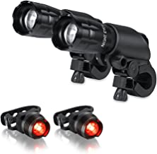 Night Eyes 300 Lumens Aircraft Aluminum Cree LED Bike Lights-Buy Bicycle Light, Buy 1 Price, Get Two Set of Bike Light and Tailight(2-Pack)