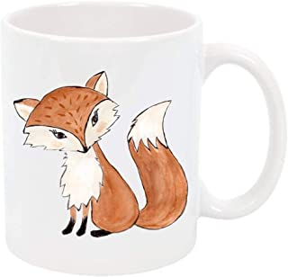 Fox Coffee Cup Tea Mug Coffee Mug Personalized Dishwasher Safe Coffee Lover Gift