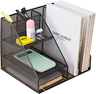 $35 » Mesh Desk Organizer, Desktop File Organizer with with 6 compartments of Well-Thought Out Dimensions,Desktop Desk Multi-Fun...