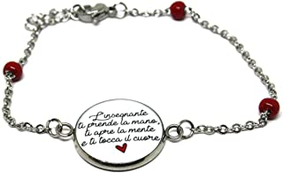 Bracciale Maestra - Regalo Maestra - Bracciale rosario - Catena rosario - Insegnante