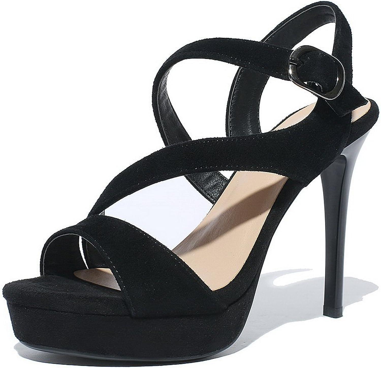 BalaMasa Girls Empty High-Heels Frosted Sandals
