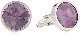 Van Heusen Men'S Mauve Shell Circles Cufflinks, Purple, One Size
