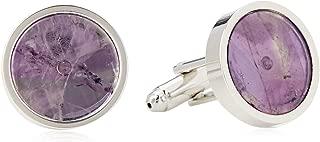 Van Heusen Men'S Mauve Shell Circles Cufflinks, Purple, One Size