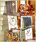 unnknown Compatible with Reversible Seasonal Greeter Scarecrow Snowman Fall Winter Patio Porch Home Decor