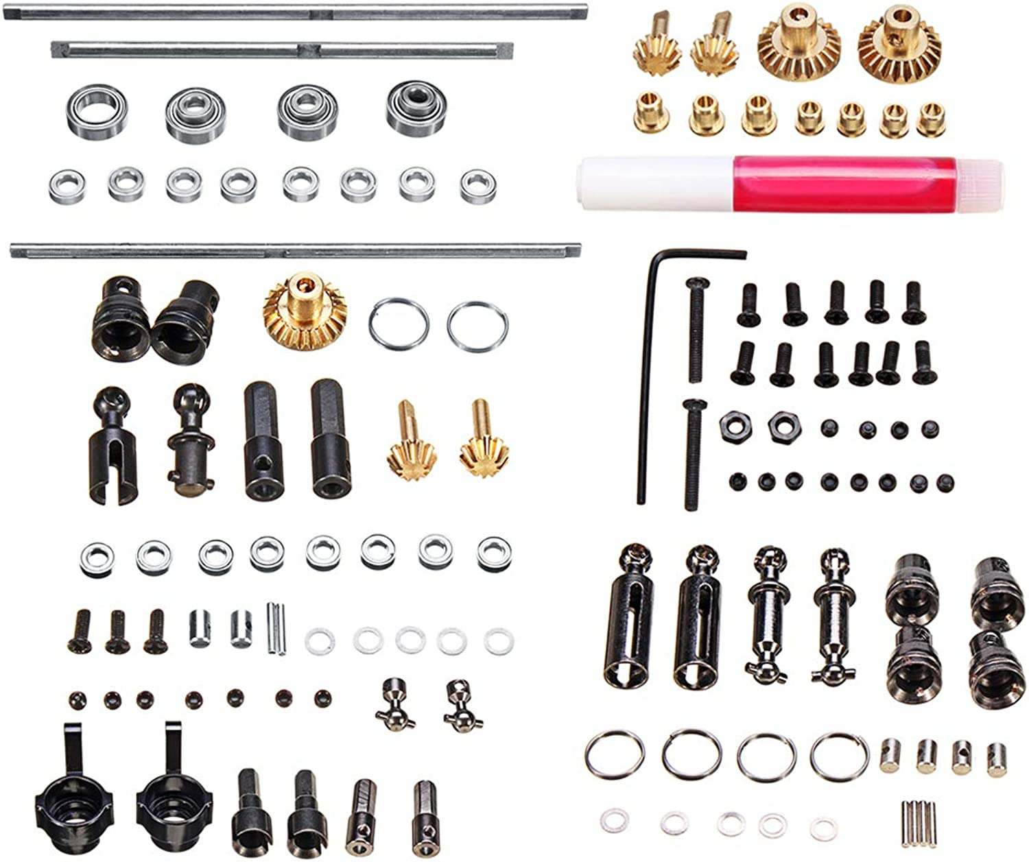 Studyset DIY Parts for WPL 1 16 6WD RC Car Military Truck Upgrade Metal OP Accessory Set Easy to Install Durable Metal & Plastic