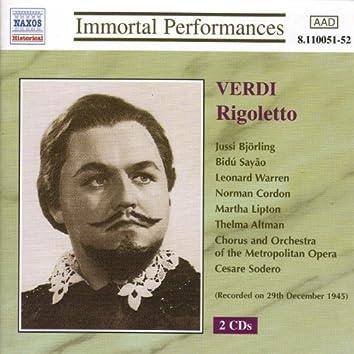 Verdi: Rigoletto (Bjorling, Sayao, Warren) (1945)