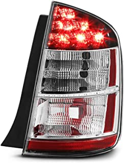 VIPMOTOZ Chrome Housing OE-Style Tail Light Lamp Assembly For 2004-2005 Toyota Prius, Passenger Side