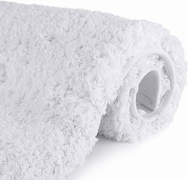 Bathroom Rugs Microfiber Plush Bath Mat Machine Washable, Slip Resistance Rubber and Absorbency Bath Rugs for Bathroom Floor,