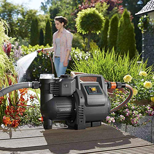 Gardena 01757-61 Haus-& Gartenautomat 3500/4, 800 W, Schwarz, Orange