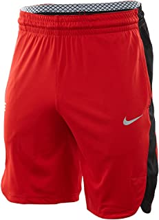 Men's Elite Basketball Training Shorts Red Black AJ4213 657