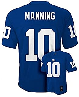 Eli Manning New York Giants Blue NFL Kids 2016-17 Season Mid-tier Jersey (Kids 5/6)