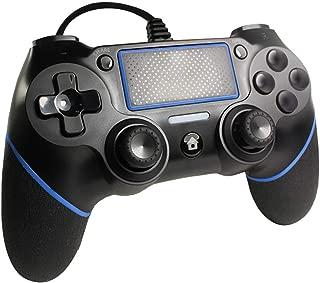 PS4 コントローラー 有線 デュアルショック代替品-プレステ4-有線1.8M ダブルモーター振動 高耐久ボタン タッチパット機能 ジャイロセンサー PS4 pro/PS3/PC対応 プレステシリーズ 日本取扱説明書付き