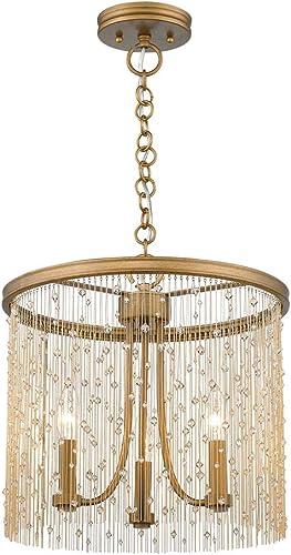 Golden Lighting 1771-3P PG-CRY Marilyn Pendant, Peruvian Gold