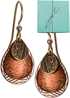 Best silver hammered drop earrings Reviews