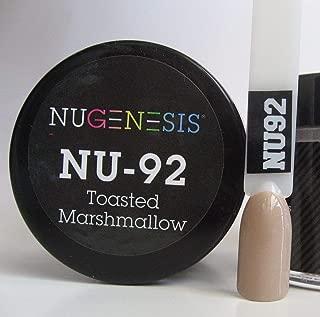 NuGenesis Nail Dipping Powder Color 1oz Jar - (NU92 Toasted Marshmallow)