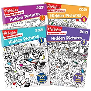 Highlights Hidden Pictures 2021 4-Book Set from Highlights For Children