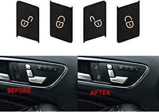 Door Lock Switch Button Repair Stickers For 2008-2014 Mercedes Benz W204 C300