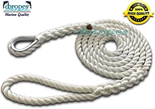 dbRopes 3 Strand Mooring Pendant Line 100% Nylon Rope 5/8