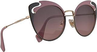 Miu Miu MU57TS Sunglasses Pale Gold Alabaster Grey w/Pink Gradient Grey 54mm Lens M1R146 MU 57TS SMU 57TS SMU57T