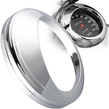 """VAWiK aluminum chrome 5/"""" Odometer Gauge Cover for Harley 99-/'07 Road King FLHR"""