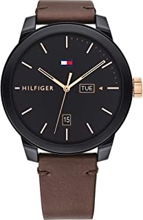 Tommy Hilfiger Men's Analogue Quartz Watch with Leather Strap 1791748